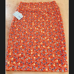 Lularoe Cassie skirt orange new with tags